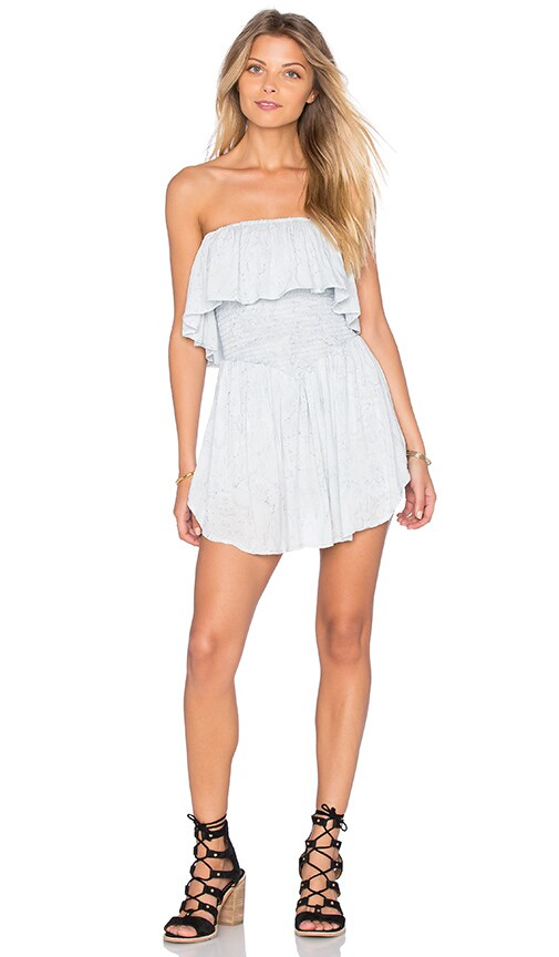 Blue Life Festival Romper in Baby Blue