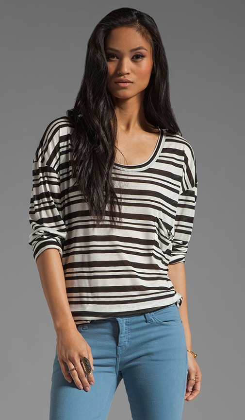 Stripe Long Sleeve Best Bum Top