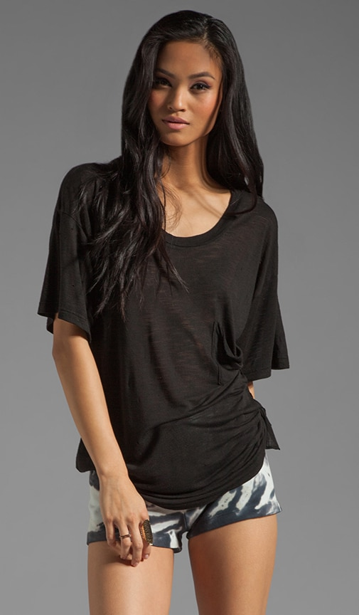 Distressed Side Tie Best Bum Tee