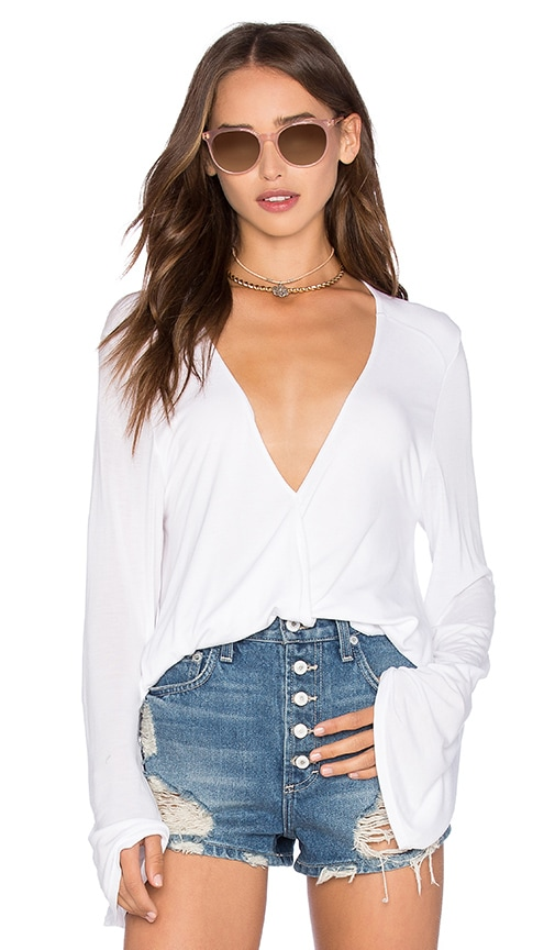 Blue Life Hayley Top in White