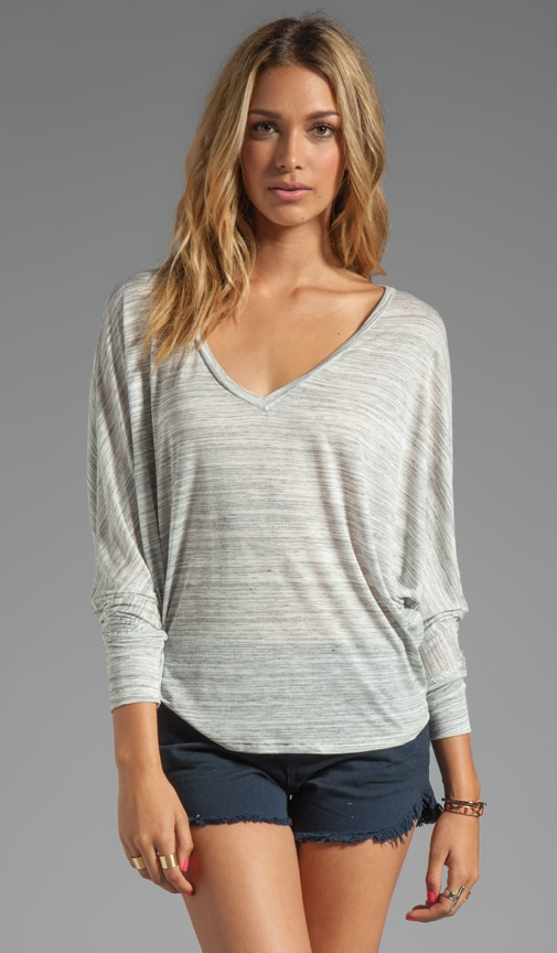 V Neck Cocoon Top