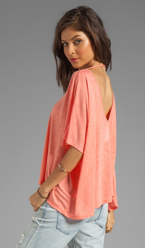 Cropped Double V Neck Top