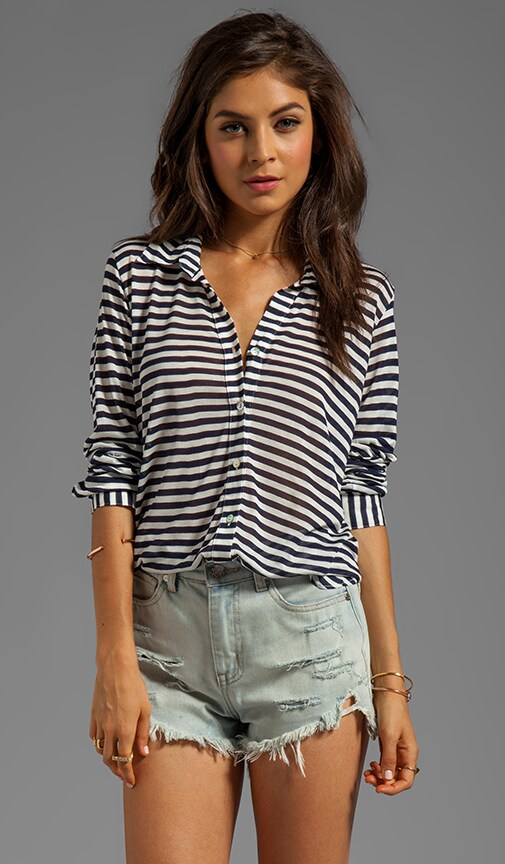 Uneven Shirting Top