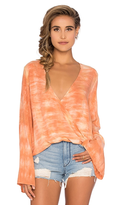 Blue Life Tie Dye Hayley Top in Orange