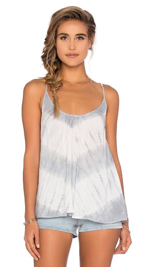 Blue Life Criss Cross Back Cami in Light Gray