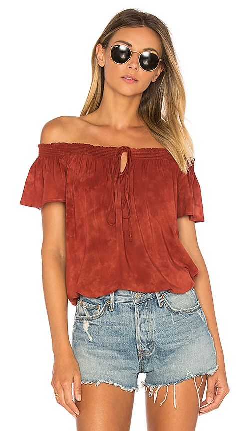 Blue Life Muse Tie Top in Rust