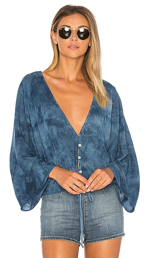 Blue Life Maia Coconut Top in Blue