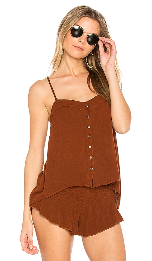 Blue Life Mohave Button Cami in Brick