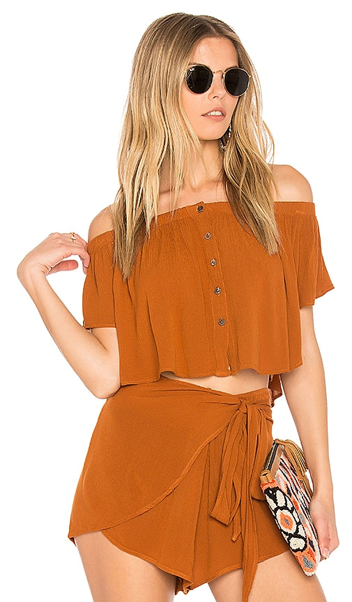 Blue Life Ojai Crop Top in Rust