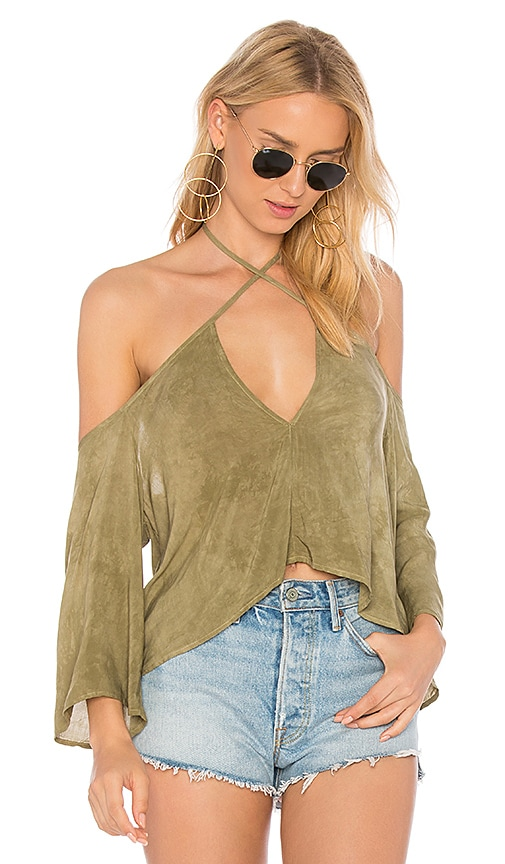 Blue Life Sophia Top in Green