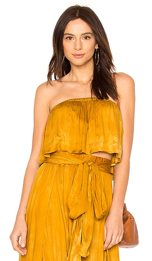 Blue Life Lina Frill Top in Mustard