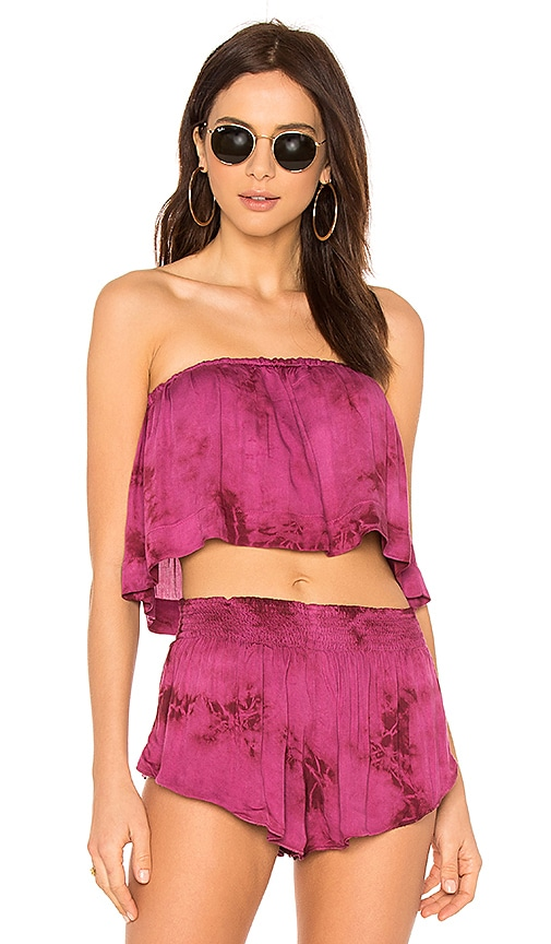Blue Life Lina Frill Top in Burgundy