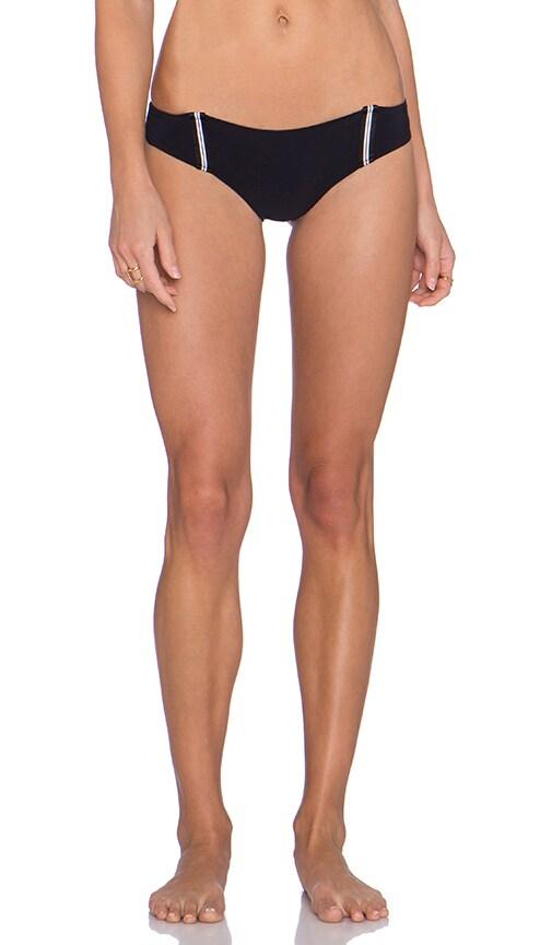 Blue Life Racing Stripes Suspender Bikini Bottom in Black