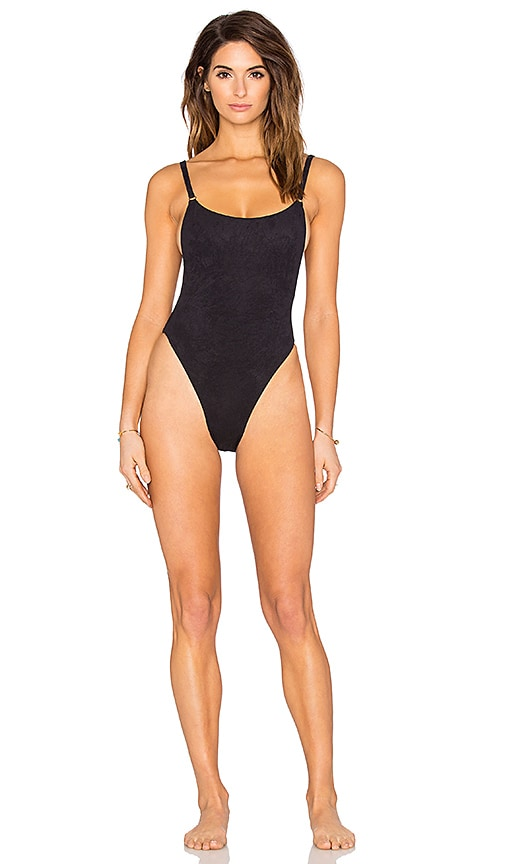 Blue Life Suede Oasis One Piece in Black