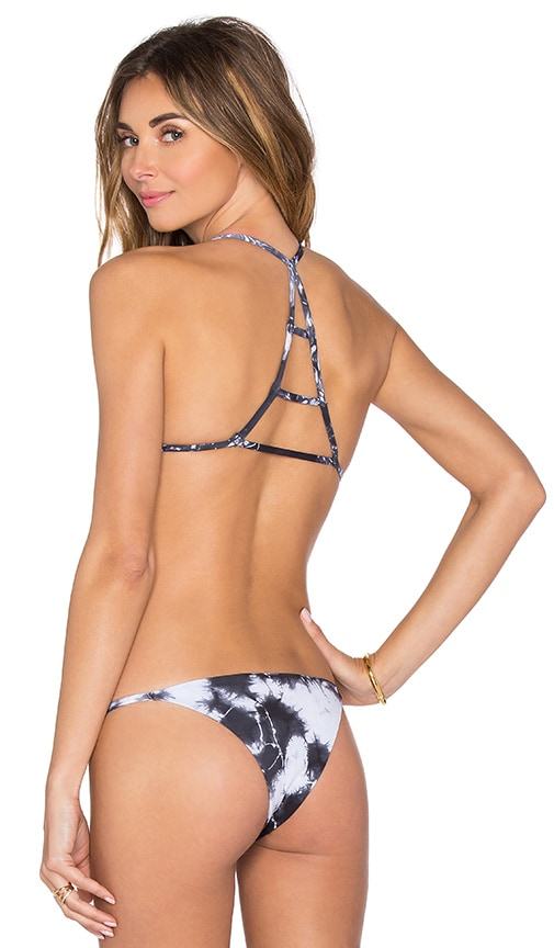 Blue Life Paradise Tri Bikini Top in Gray