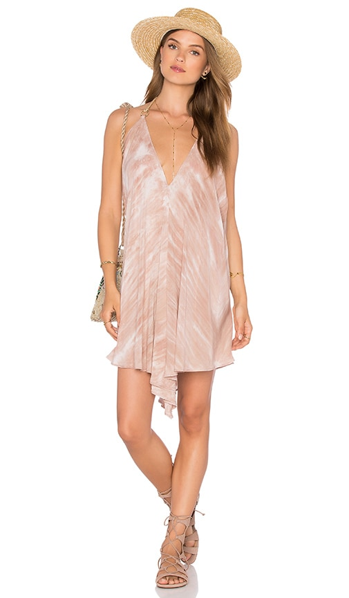 Blue Life Halter Scarf Tunic in Blush