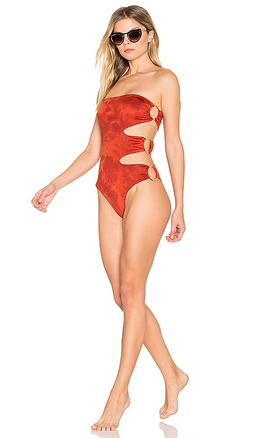 Blue Life Jane One Piece in Lave Tie Dye in Red