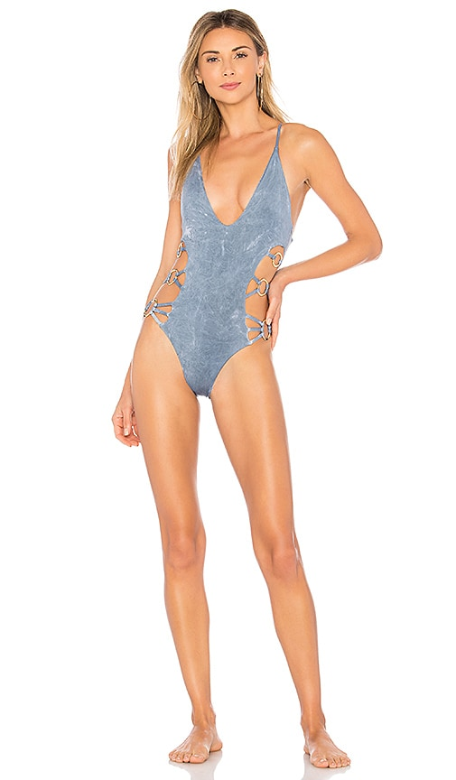 Blue Life Rising Sun One Piece in Blue