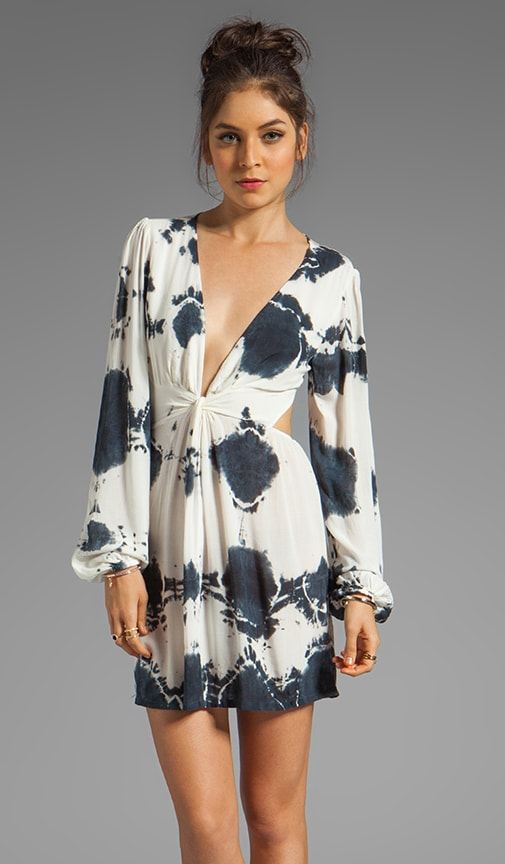 Short Bell Sleeve Twist Dress
