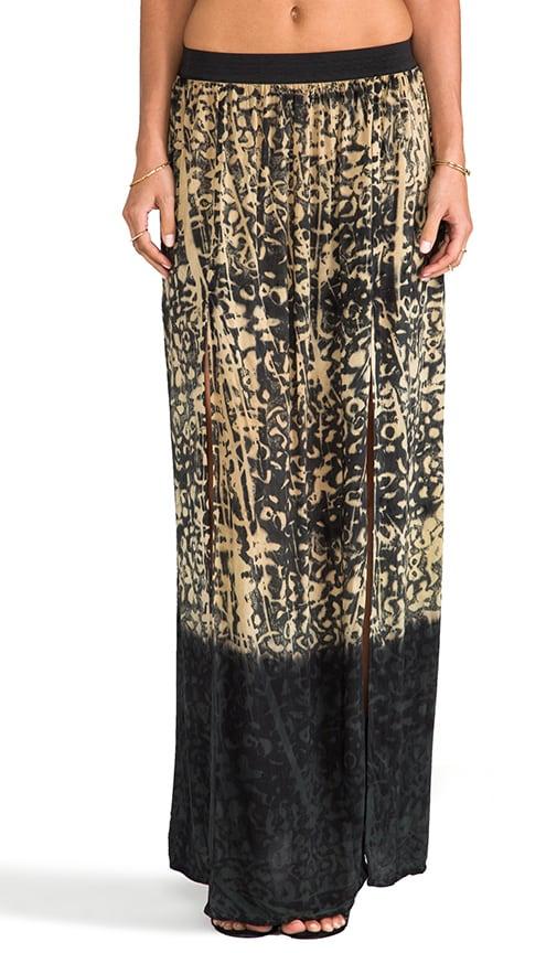 High Waisted Double Slit Skirt
