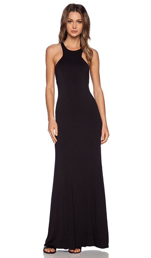 Bella Luxx Geometric Maxi Dress in Black