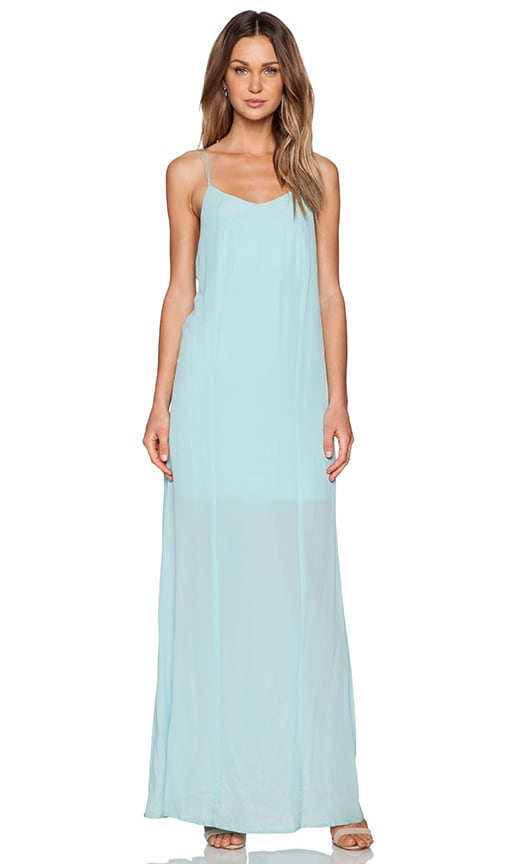 Bella Luxx Low Back Maxi Dress in Seagreen | REVOLVE