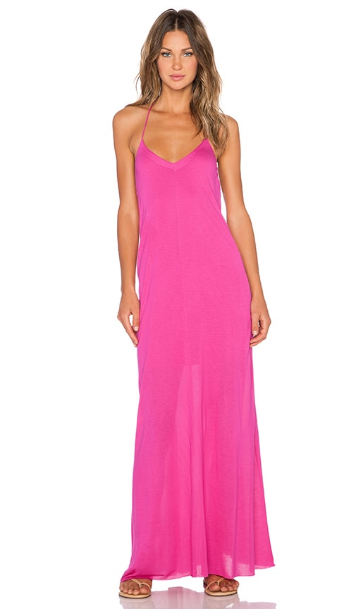 Bella Luxx T Back Maxi Dress in Pink