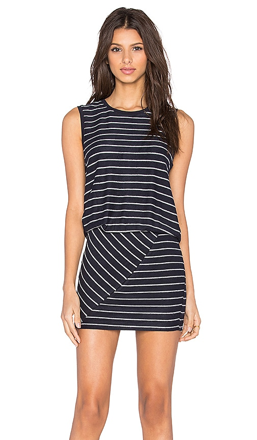 Bella Luxx Baby Loop Stripe Muscle Dress in Chavon Stripe