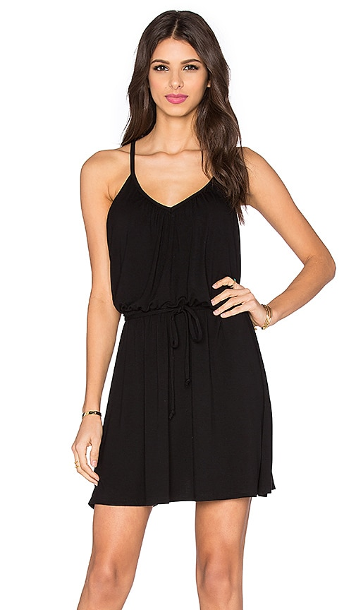 Bella Luxx Shirred Cami Dress in Black