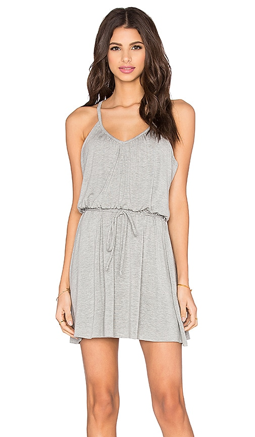 Bella Luxx Shirred Cami Dress in Gray