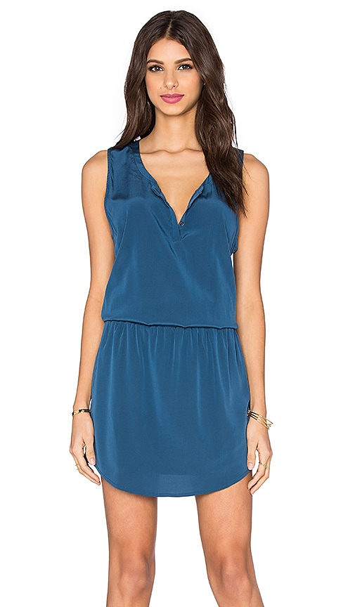 Bella Luxx Smocked Waist Tank Dress in Washed Indigo