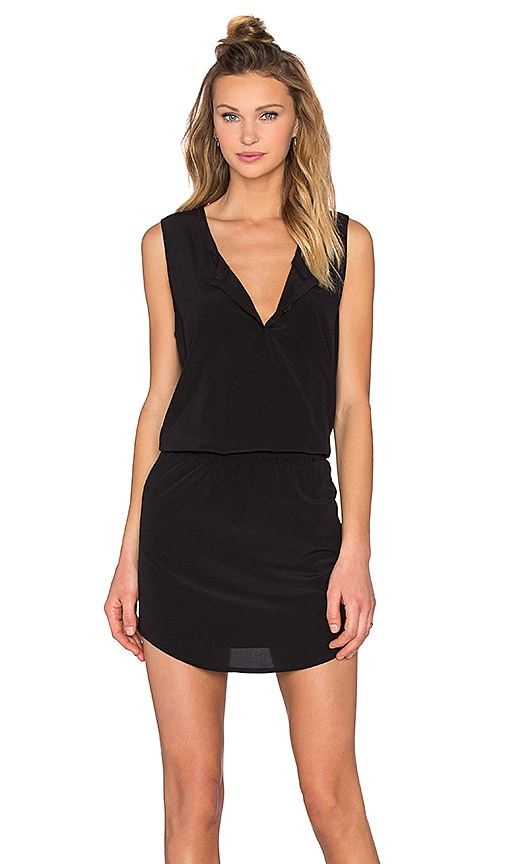 Bella Luxx Smocked Waist Tank Dress in Black