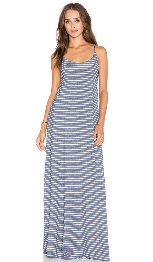 Bella Luxx Low Back Maxi Dress in Quito Stripe