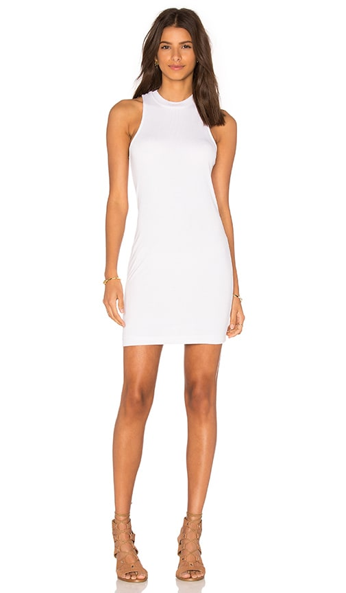 Bella Luxx High Neck Tank Dress in White