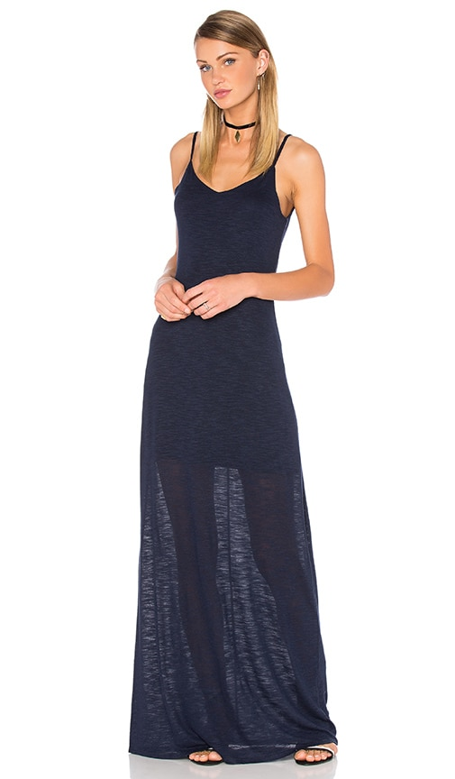 Bella Luxx Open Back Maxi Dress in New Navy