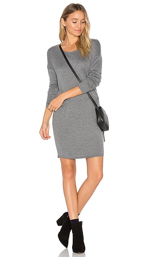Bella Luxx Cashmere Blend Trapezoid Dress in Gray
