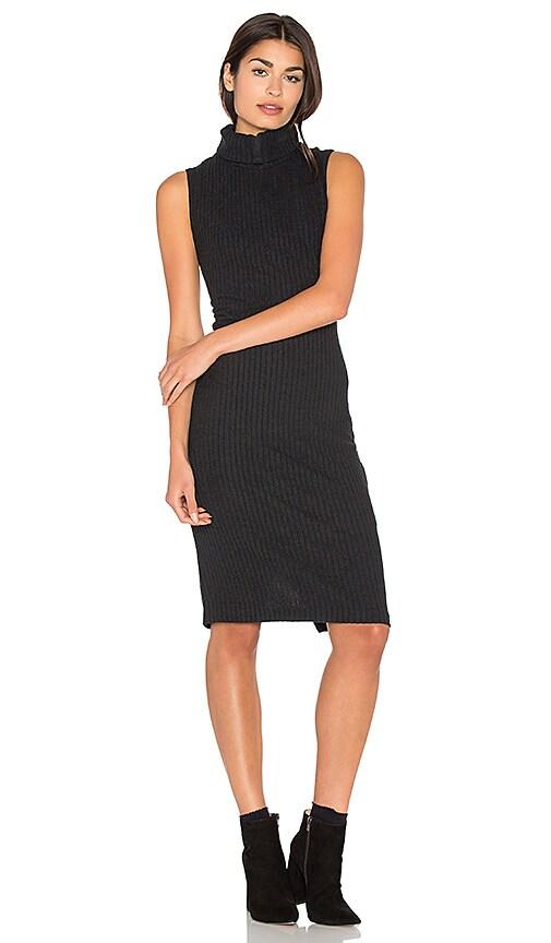 Bella Luxx Plush Rib Dress in Black