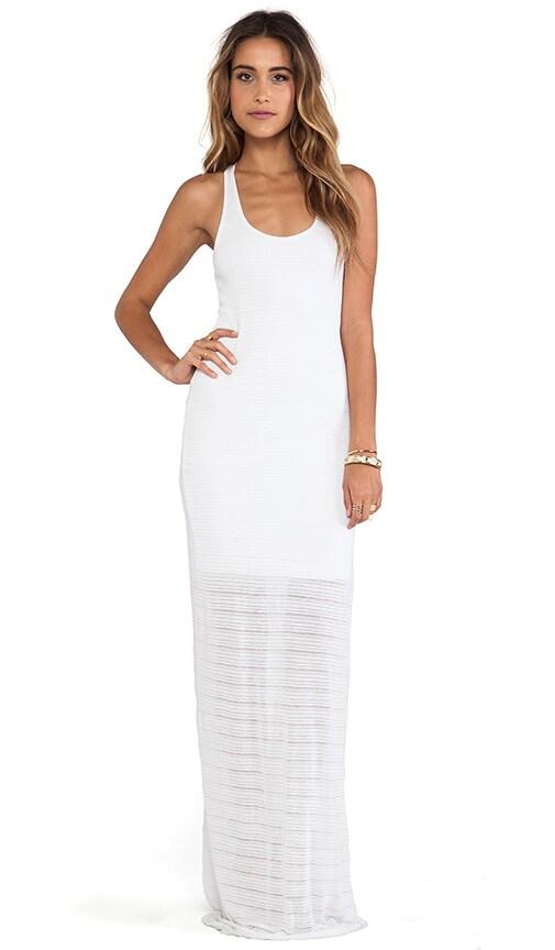 Slub Stripe Maxi Dress