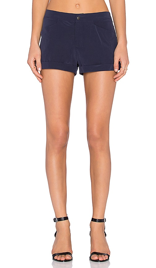 Bella Luxx Flat Front Trouser Short in Navy