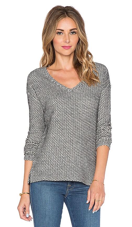 Bella Luxx Drop Shoulder Sweater in Cream & Black