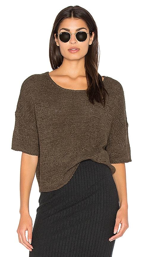 Bella Luxx Tape Yarn Box Sweater in Brown