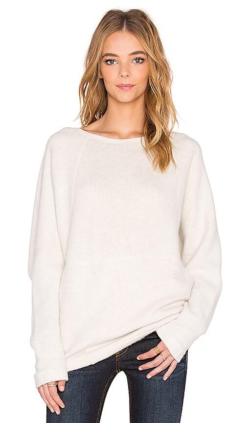 Bella Luxx Oversized Raglan Sweatshirt in Cream Heather