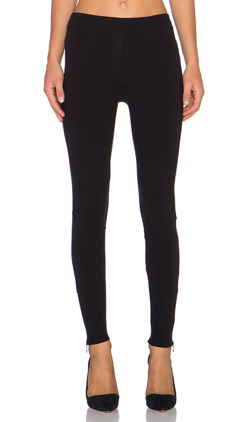Bella Luxx Size Zip Legging in Black