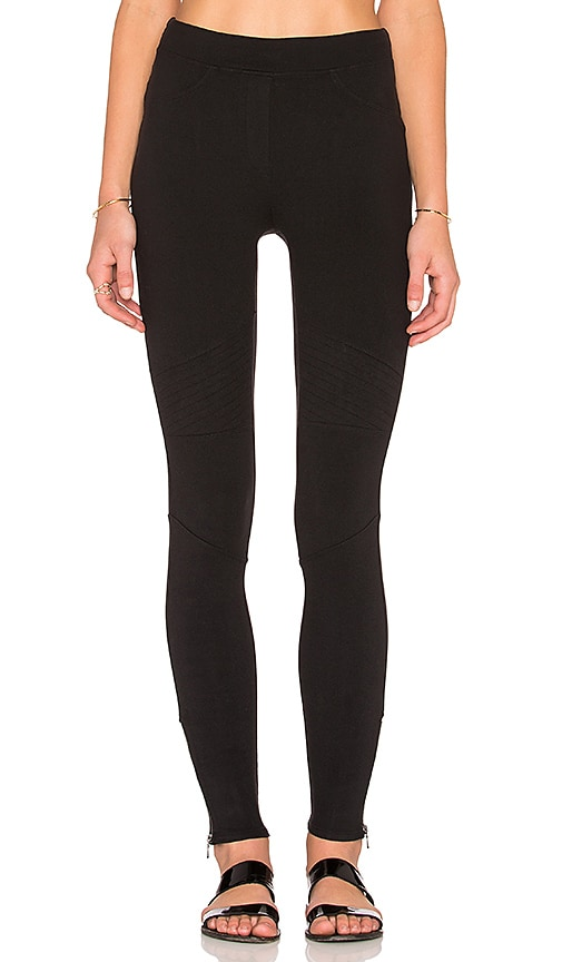 Bella Luxx Side Zip Legging in Black