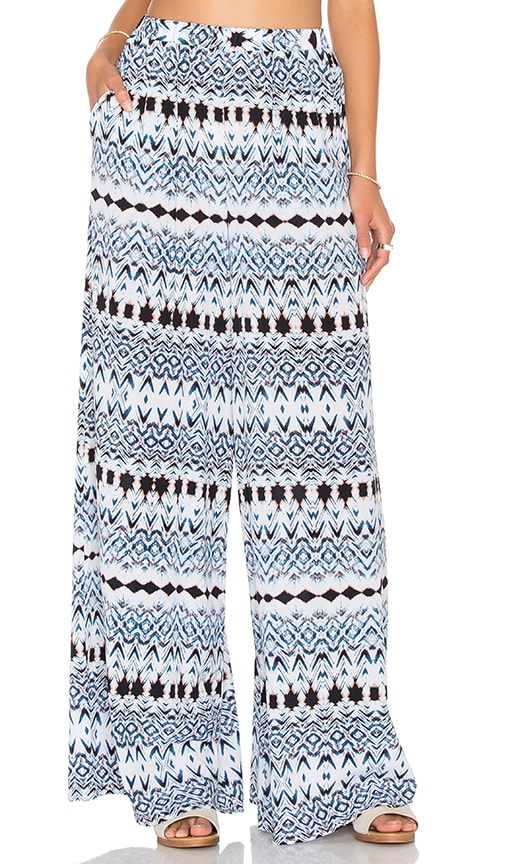 Bella Luxx High Waist Wide Leg Pant in Blue