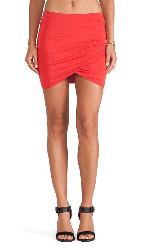 Shirred Cross Front Skirt