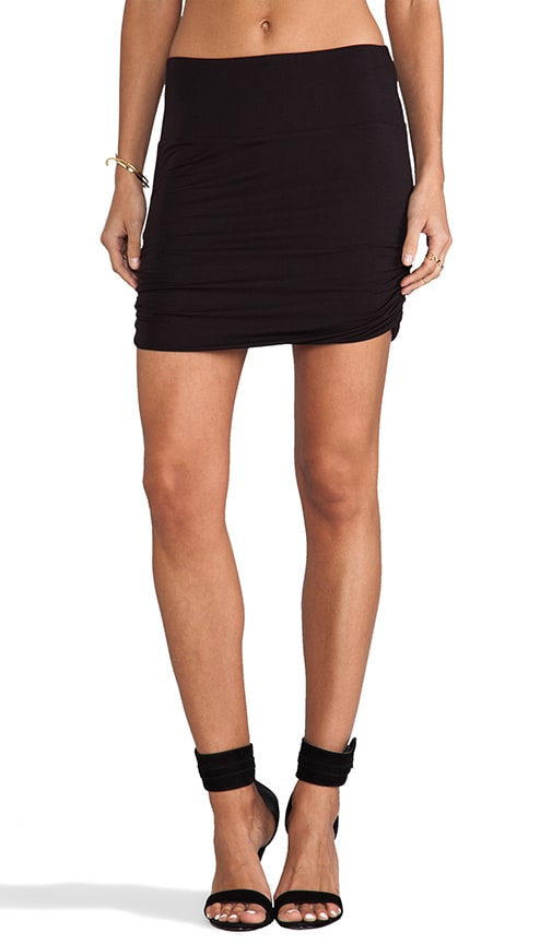 Shirred Mini Skirt