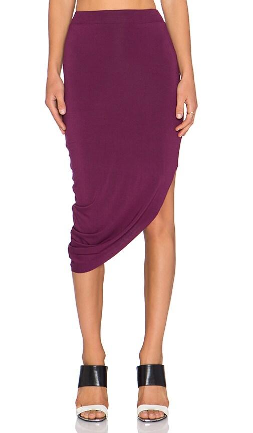 Asymmetrical Drape Midi Skirt