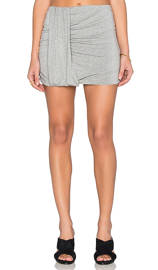 Bella Luxx Side Drape Mini Skirt in Gray