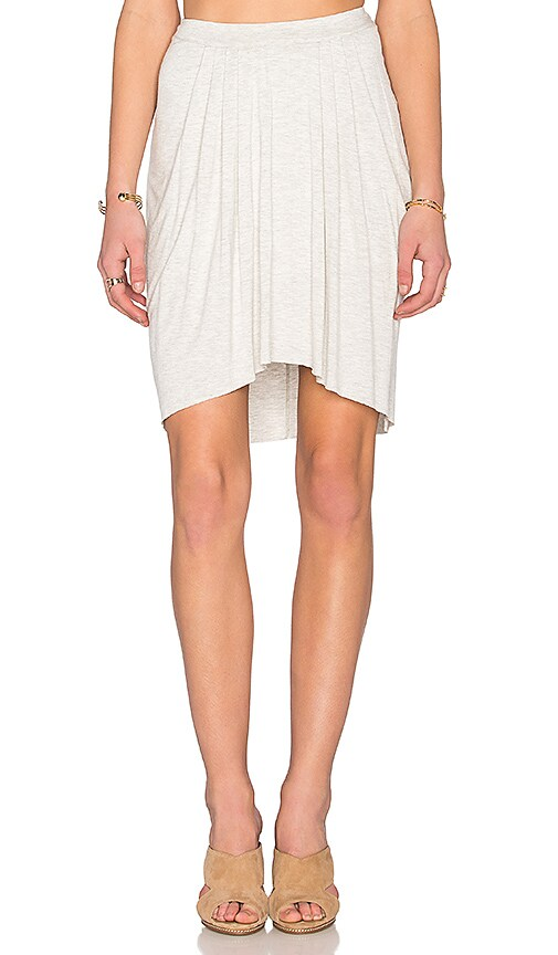 Bella Luxx High Low Pleated Skirt in Gray